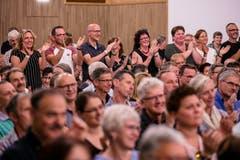 Die Gäste applaudieren. (Bild: Philipp Schmidli, Hitzkirch, 16. Juni 2019)