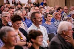 Und zu lachen hatten sie auch. (Bild: Philipp Schmidli, Hitzkirch, 16. Juni 2019)