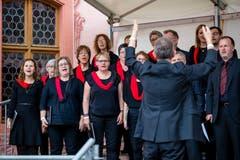 Platzkonzert des gemischten Chors Entlebuch. (Bild: Philipp Schmidli, Hitzkirch, 16. Juni 2019)