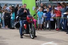 Oliver Krauss hat seine über 30-jährige Honda in ein Elektromotorrad umgebaut.