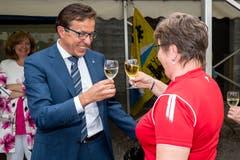 Kantonsratspräsident Josef Wyss (CVP) konnte etliche Gratulationen entgegen nehmen.