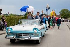 Über 100 Personen marschierten mit Kantonsratspräsident Josef Wyss mit.