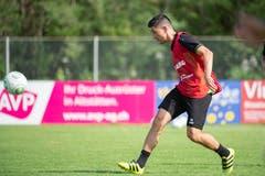 St.Gallens Rückkehrer Moreno Costanzo in Aktion. (Bild: Urs Bucher)