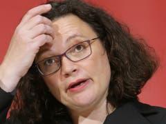 SPD-Chefin Andrea Nahles tritt zurück. (Bild: KEYSTONE/DPA/WOLFGANG KUMM)