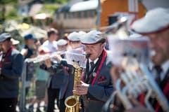 Ein Saxophon-Spieler der Musikgesellschaft Finsterwald. (Bild: Roger Grütter, Altishofen, 2. Juni 2019)