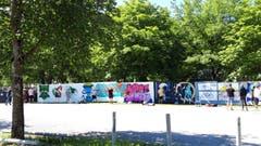 Street Art auf der Kreuzbleiche. (Bild: Doris Sieber)