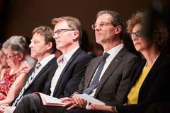 Regierungsrat Reto Wyss hört zu. (Bild: Jakob Ineichen, Willisau, 24. Juni 2019)