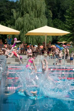 Bei Temperaturen von über 30 Grad wird die Schülermeisterschaft des Kantons Zug wohl besonders Spass gemacht haben. (Bilder: Maria Schmid, Baar, 26. Juni 2019)