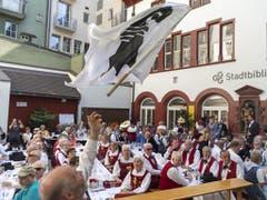 Auch Fahnenschwinger werden im Sommer 2020 in Basel in Aktion zu sehen sein. (Bild: KEYSTONE/GEORGIOS KEFALAS)