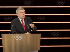 Bei der Goldfeier am Freitag in Schwellbrunn glänzen Präsident Thomas Bach und seine Kollegen vom IOC durch Abwesenheit (Bild: KEYSTONE/JEAN-CHRISTOPHE BOTT)