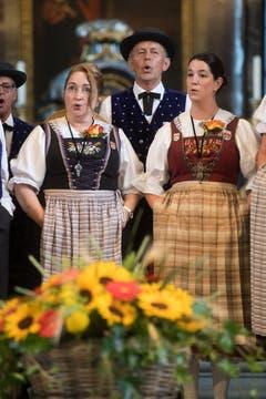 Der Jodlerklub Heimelig Horw bei der Eröffnung. (Bild: Boris Bürgisser, Horw, 28.06.2019)
