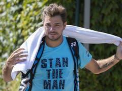 Stan Wawrinka beginnt das Turnier in Wimbledon gegen den belgischen Qualifikanten Ruben Bemelmans (Bild: KEYSTONE/PETER KLAUNZER)