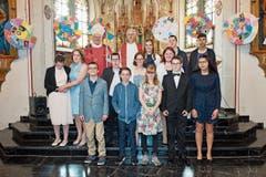 Firmung HPS in der katholischen Kirche Azmoos mit Bischof Markus.