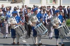 Tambouren beim Einmarsch. (Bild: Boris Bürgisser, Horw, 28.06.2019)