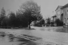 Die Landhaus Kreuzung am Eingang der Stadt.