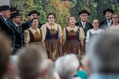 Der Auftritt des Jodlerklub Heimelig Baar. (Bild: Dominik Wunderli, Horw, 29. Juni 2019)