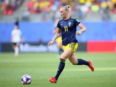 Stina Blackstenius erzielte das Siegtor für Schweden gegen Deutschland (Bild: KEYSTONE/AP/DAVID VINCENT)