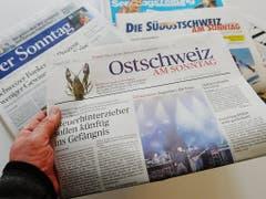 Die am heutigen Sonntag wird auch die digitale Ausgabe der «Ostschweiz am Sonntag» eingestellt. (Bild: KEYSTONE/STEFFEN SCHMIDT)