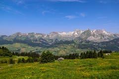 Schöner Blick ins Tal von der Gamsalp aus. (Bild: Renato Maciariello)