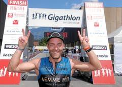 Peter Gerber ist Gesamtsieger in der Kategorie Single Men und damit Gigathlon Man 2019. (Bild: swiss-image)