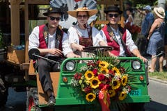 Impressionen vom Festumzug - das OK des Zentralschweizerischen Jodlerfestes in Horw. (Bild: Boris Bürgisser)