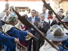 Bundesrat Ignazio Cassis besucht die Gedenkfeier zur Schlacht von Sempach. (Bild: Urs Flüeler, Sempach, 30. Juni 2019)