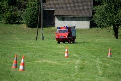 Das Kleinlöschtankfahrzeug ist für den Einsatz auf dem Esaf-Camping bestimmt. (Bild: Maria Schmid, Zug, 29. Juni 2019 )