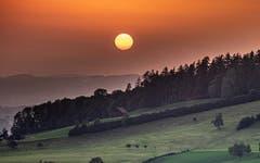 Sonnenuntergang vom Egg Herisau fotografiert. (Bild: Luciano Pau)