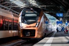 Der erste neue «Traverso» fährt auf der Voralpen-Express-Strecke zwischen St. Gallen und Luzern. (Bilder: Adriana Ortiz Cardozo)