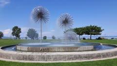Wasserspiel im Park Romanshorn. (Bild: Wendolin Stieger)