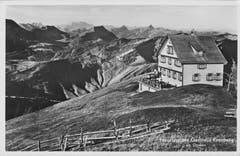 Das neu erstellte Berggasthaus Kronberg. (Bild: Fritz Zwissler, Appenzell/Landesarchiv AI)