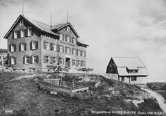 Das Berggasthaus Hoher Kasten. (Bild: Foto Gross, St.Gallen/Landesarchiv AI)