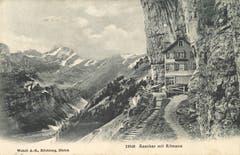 Das Berggasthaus Aescher. (Bild: Landesarchiv AI)
