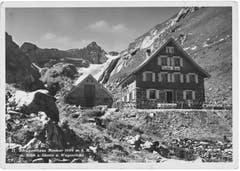 Eine undatierte Aufnahme des Berggasthauses Mesmer. (Bild: W. Bachmann, Appenzell/Landesarchiv AI)