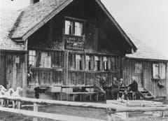 Eine undatierte Aufnahme des Berggasthauses Hoher Hirschberg. (Bild: Landesarchiv AI)