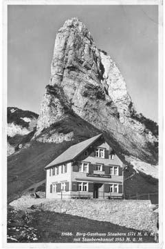 Blick auf das Berggasthaus Stauberen in einer undatierten Aufnahme. (Bild: Foto Gross, St.Gallen/Landesarchiv AI)