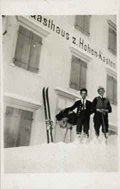 Skitourengänger auf dem Hohen Kasten. (Bild: Landesarchiv AI)