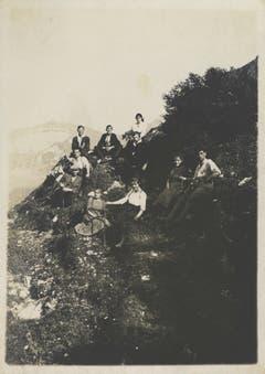Eine Wandergruppe um 1920. (Bild: Fritz Zwissler, Appenzell/Landesarchiv AI)