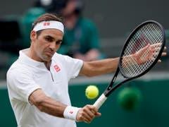 Roger Federer feierte gegen Kei Nishikori seinen 100. Sieg im Einzel in Wimbledon, den 186. in seiner Karriere auf Rasen (Bild: KEYSTONE/EPA/NIC BOTHMA)