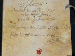 Der Umschlag des Manuals der Berner Regierung zur «Henzi-Verschwörung». (Bild: zvg/Kanton Bern)