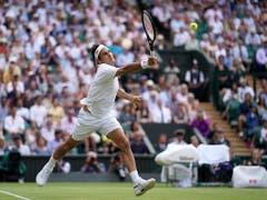 Roger Federer überzeugte auf dem Weg zu seinem 45. Grand-Slam-Halbfinal einmal mehr am Netz (Bild: KEYSTONE/EPA/NIC BOTHMA)