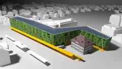 Mit ihrem Projekt Tausendfüsser wollen der Stanser Steff Hürlimann und der Architekt Georg Vranek aus Emmenbrücke die Überbauung des Stanser Bahnhofareals wieder ins Gespräch bringen. (Visualisierung: PD)