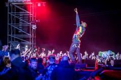 Travis Scott begeistert am Open Air Frauenfeld das Publikum. (Bild: Andrea Stalder)