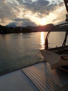 Sonnenuntergangsfahrt auf dem Vierwalstättersee. (Bild: Heinrich Inderbitzin, 14. Juli 2019)