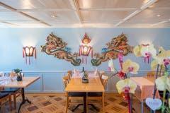 Auch der Speisesaal im Restaurant Shanghai punktet mit viel Liebe zum Detail. (Bild: Urs Bucher)
