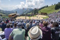 Blick auf die Naturarena auf der Rigi. (Bild: Urs Flüeler/Keystone, 14. Juni 2019)