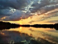 Traumhafter Sonnenuntergang am Soppensee. (Bild: Urs Gutfleisch, Buttisholz, 15. Juli 2019)