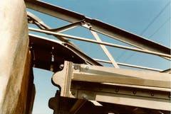 GanggelistegLage des Pylonenfusses nach dem Einsturz. (Bild: PD/Gemeindearchiv Bussnang)
