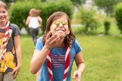 Für dieses Spiel mussten die Kinder beide Augen zudrücken.Lagerbild: Pfadi Arth-Goldau, Meute Pegapeia (Walenstadt, 9. Juli 2019)