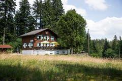 Das Berghaus Ricketschwendi auf der Krienseregg wird von den Bürgerturnern Luzern (BTV) betrieben. (Bild: Manuela Jans-Koch, Kriens, 14. Juli 2019)